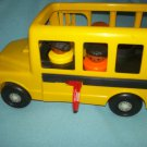 VINTAGE FISHER PRICE ROLLING SCHOOL BUS~YELLOW~1995