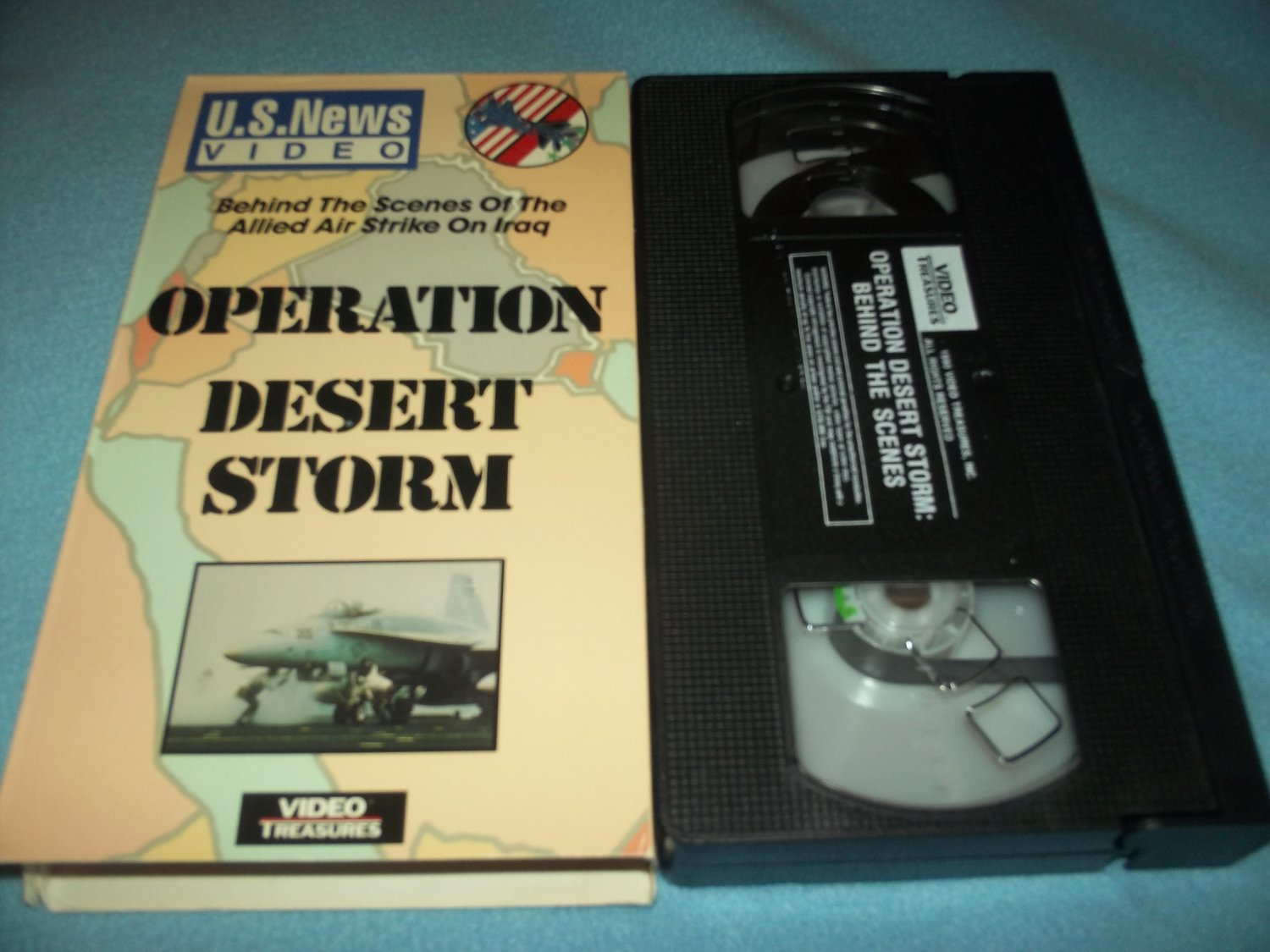 OPERATION DESERT STORM~VHS~U.S. NEWS VIDEO~1991 BEHIND THE SCENES-ALLIED AIR STRIKE