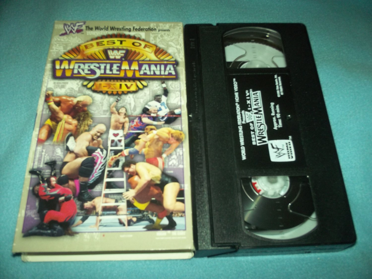 WWF BEST OF WRESTLEMANIA 1-XIV~VHS~1998~HULK HOGAN, RIC FLAIR, STEVE AUSTIN