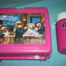 VINTAGE FURSKINS~~LUNCH BOX~PLASTIC~WITH THERMOS~1986~TEDDY BEARS