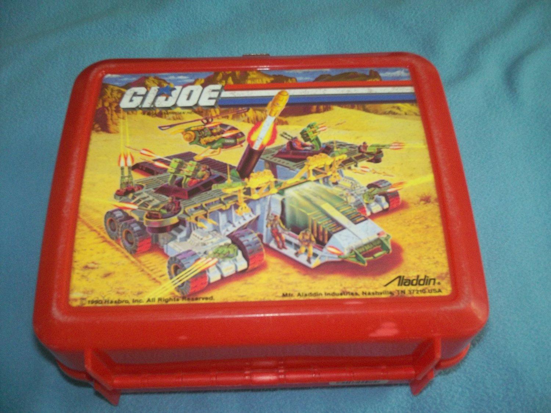 VINTAGE G. I. JOE~LUNCH BOX~PLASTIC~NO THERMOS~ALADDIN~1990