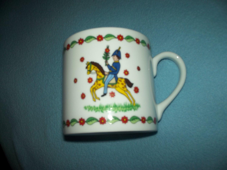GEVALIA SWEDISH SEASONS MUG~BOY ON HORSE~SUMMER~GEVALIA KAFFE