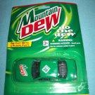 MOUNTAIN DEW COLA DIE CAST METAL CAR~MINT ON CARD~GOLDEN WHEEL~RACING