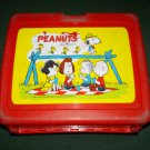 VINTAGE PEANUTS BY SCHULTZ~LUNCH BOX~PLASTIC~ NO THERMOS
