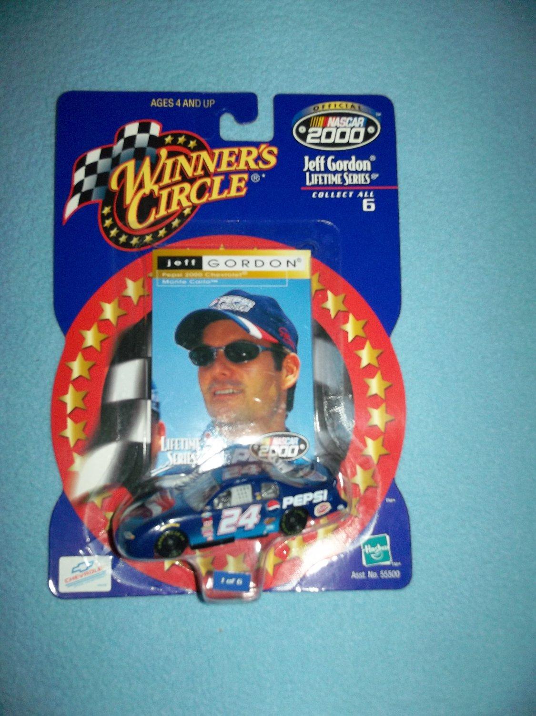 JEFF GORDON #24 NASCAR~WINNER'S CIRCLE DIE-CAST METAL CAR~MINT ON CARD 2000