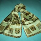 ADRIENNE VITTADINI DESIGNER SEWING SCARF ~MULTI-COLORED~SEWING PATCHES~SILKY~
