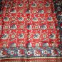 VINTAGE FLORAL SCARF ~ITALY ~ACETATE~RED/BLUE/LT.BROWN/WHITE~VERY PRETTY