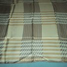 VINTAGE ECHO GEOMETRIC SCARF ~WHTE/LT. TAUPE/NOUGAT ~JAZZY