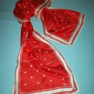 VINTAGE VERA NEUMANN SCARF ~RED WHITE POLKA DOTS~ALL SILK~JAPAN~CLASSY