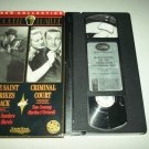 THE SAINT STRIKES BACK / CRIMINAL COURT ~ VHS~GEORGE SANDERS, TOM CONWAY~CLASSICS