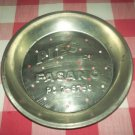 Vintage PIES BY FASANO PO 7-8760 Pie Tin Plate Pan~Bakeware~Advertising~Metal~Decor