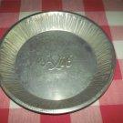 Vintage A & M Aluminum Pie Tin Plate Pan~Bakeware~Advertising~Metal~Decor