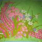 VINTAGE CHRISTIAN DIOR SCARF~MADE IN FRANCE~60'S~MOD FLOWERS~ INTENSE GROOVY COLORS