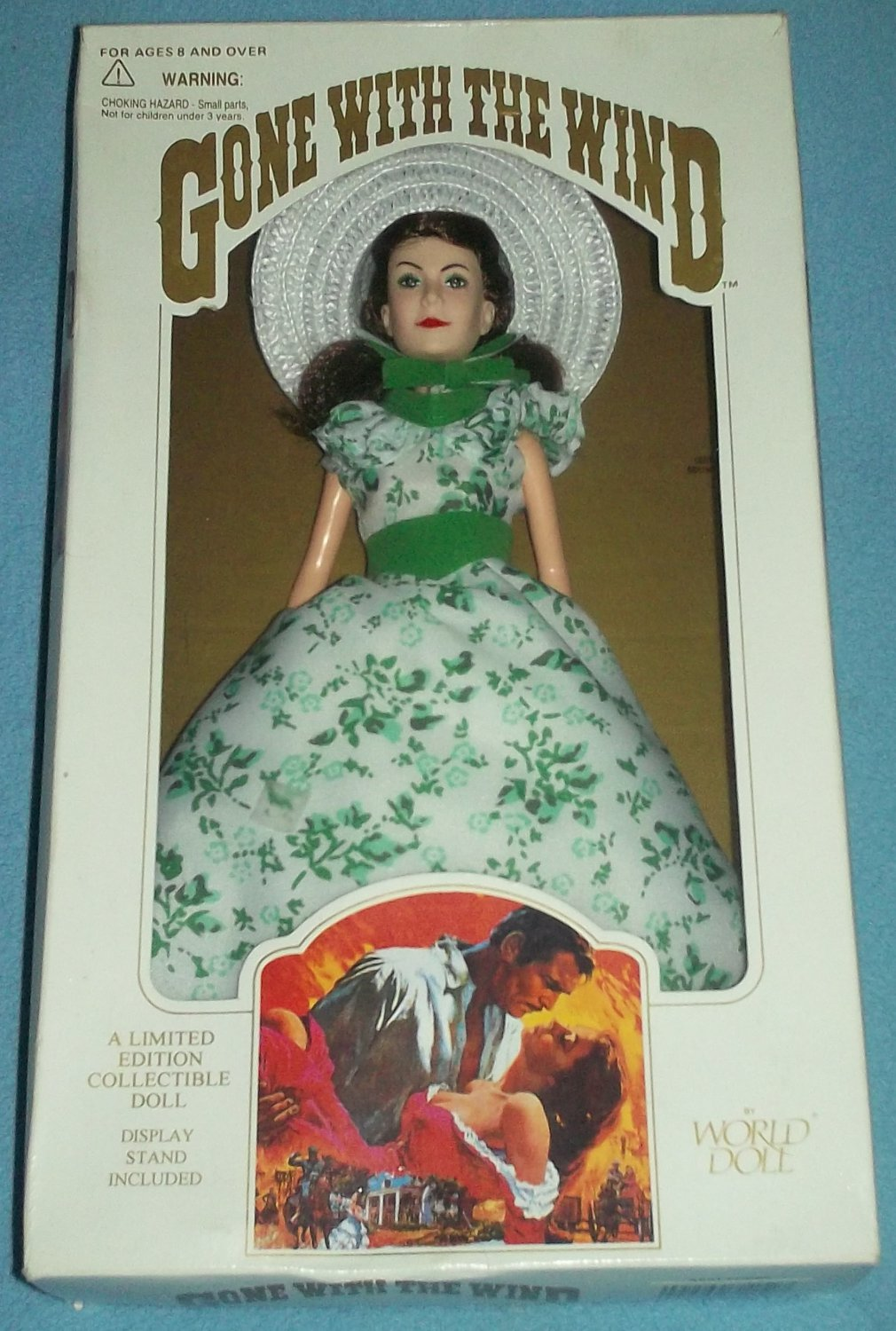 SCARLETT O'HARA GONE WITH THE WIND WORLD DOLL 1989~ # 71152~ORIG BOX~MINT~STAND