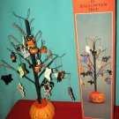 "HALLOWEEN TREE 18"" PUMPKIN BLACK CATS WITCH GHOST DECOR"
