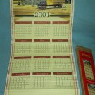 COCA COLA COKE 2001/2002 CALENDAR WALL-SCROLL REVERSIBLE ORIG. BOX