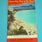 VINTAGE PAN AMERICAN HAWAII BROCHURE 1963 COOK'S WAIKIKI