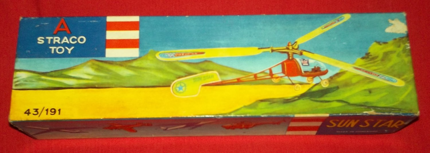 VINTAGE STRACO SUN STAR HELICOPTER MODEL 50'S *BOX ONLY*