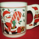 SANTA WITH CANDY CANE CHRISTMAS MUG BIG HANDLE