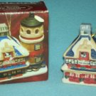 BADCOCK FURNISHING CENTER 2002 CHRISTMAS ORNAMENT FIRE STATION LIGHTHOUSE