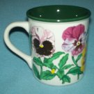 VINTAGE PANSIES MUG Potpourri Press 1991 BEAUTIFUL
