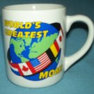 WORLD'S GREATEST MOM Mug EARTH Flags