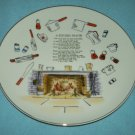 VINTAGE ENESCO KITCHEN PRAYER PLATE ~JAPAN~GOLD~60s~Large
