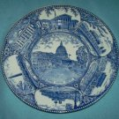 VINTAGE Washington, D.C. SOUVENIR PLATE Blue and White Transferware