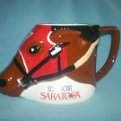 Vintage SEABISCUIT Saratoga Race Track HORSE RACING Mug
