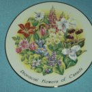 VILETTA FINE CHINA Provincial Flowers of Canada Plate GOLD Floral