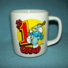 VINTAGE SMURF #1 Grad MUG ~PEYO~ 1982 ~BERRIE CO