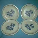 PFALTZGRAFF YORKTOWNE Bread Plates ~SET OF 4 ~BLUE FLOWER