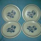 PFALTZGRAFF YORKTOWNE Bread Plates ~SET OF 4 ~BLUE FLOWER