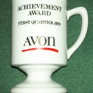 AVON ACHIEVEMENT AWARD~MUG~1978 FIRST QUARTER~WHITE WITH GOLD