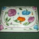 HORCHOW PORCELAIN CARD, CIGARETTE OR TRINKET BOX ~JAPAN~FLOWERS~PRETTY
