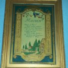 EARLY 1900s FRAMED MOTTO PRINT~BUZZA?~MOTHER~BLUEBIRDS