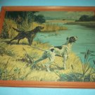 HY HINTERMEISTER HUNTING DOGS VINTAGE FRAMED SIGNED PRINT ~ 1945~pointers
