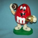 M AND Ms M&Ms CANDY FOOTBALL PLAYER DISPENSER