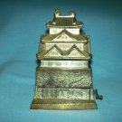 RESTAURANT TOOTHPICK DISPENSER HOLDER~POT METAL~PAGODA SHAPE~OLD~MADE IN JAPAN