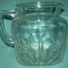 Vintage FEDERAL GLASS Star PITCHER 1940's-50's FarmHouse Style