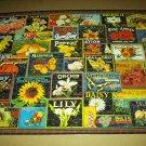 PUZZLE COLLECTION 750 PC JIGSAW PUZZLE ~ADVERT. Flowers LABELS~COMPLETE~Rose, Magnolia, Dahlia