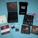 BASS BUDS CLASSICS Hot Pink SWAROVSKI ELEMENTS Mint in Box EARPHONES