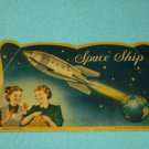 Vintage SEWING Space Ship NEEDLES & THREADER Packet JAPAN Needle Book