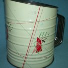 Vintage METAL FLOUR SIFTER Tin Litho Geometric 40'S-50'S Bromwell's? Androck?