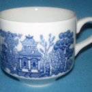 CHURCHILL Blue Willow CUP England Blue and White PAGODA design