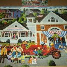 MEGA HOMETOWN COLLECTION JIGSAW PUZZLE HERONIM WYSOCKI Firehouse Fun Fire Station COMPLETE