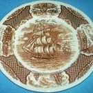 ALFRED MEAKIN STAFFORDSHIRE Fair Winds DINNER PLATE Friendship of Salem CLIPPER SHIPS Brown