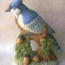 LEFTON BLUE JAY BIRD FIGURINE ~1991~ LOVELY CONDITION~NEST EGG 00242