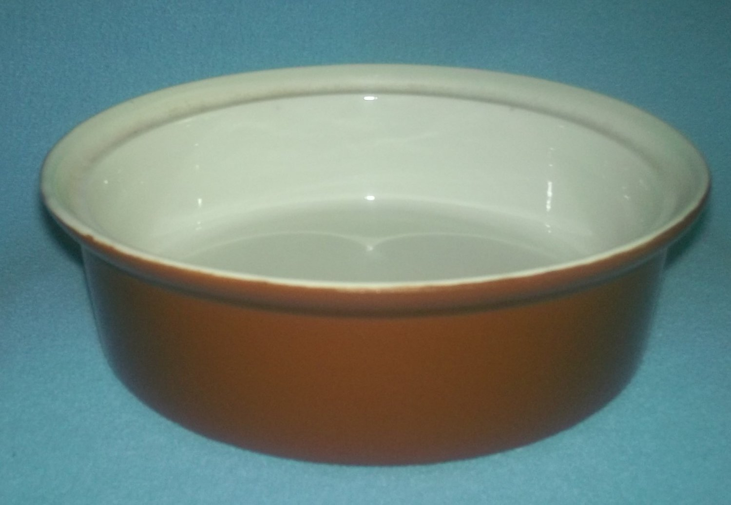 Vintage HALL CHINA Stock Brown CASSEROLE BAKER SOUFFLE Restaurant Ware