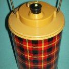 Vintage CAMPING Jug SKOTCH JUG Hamilton Metal RED BLACK TARTAN Mid-Century PETRA CABOT